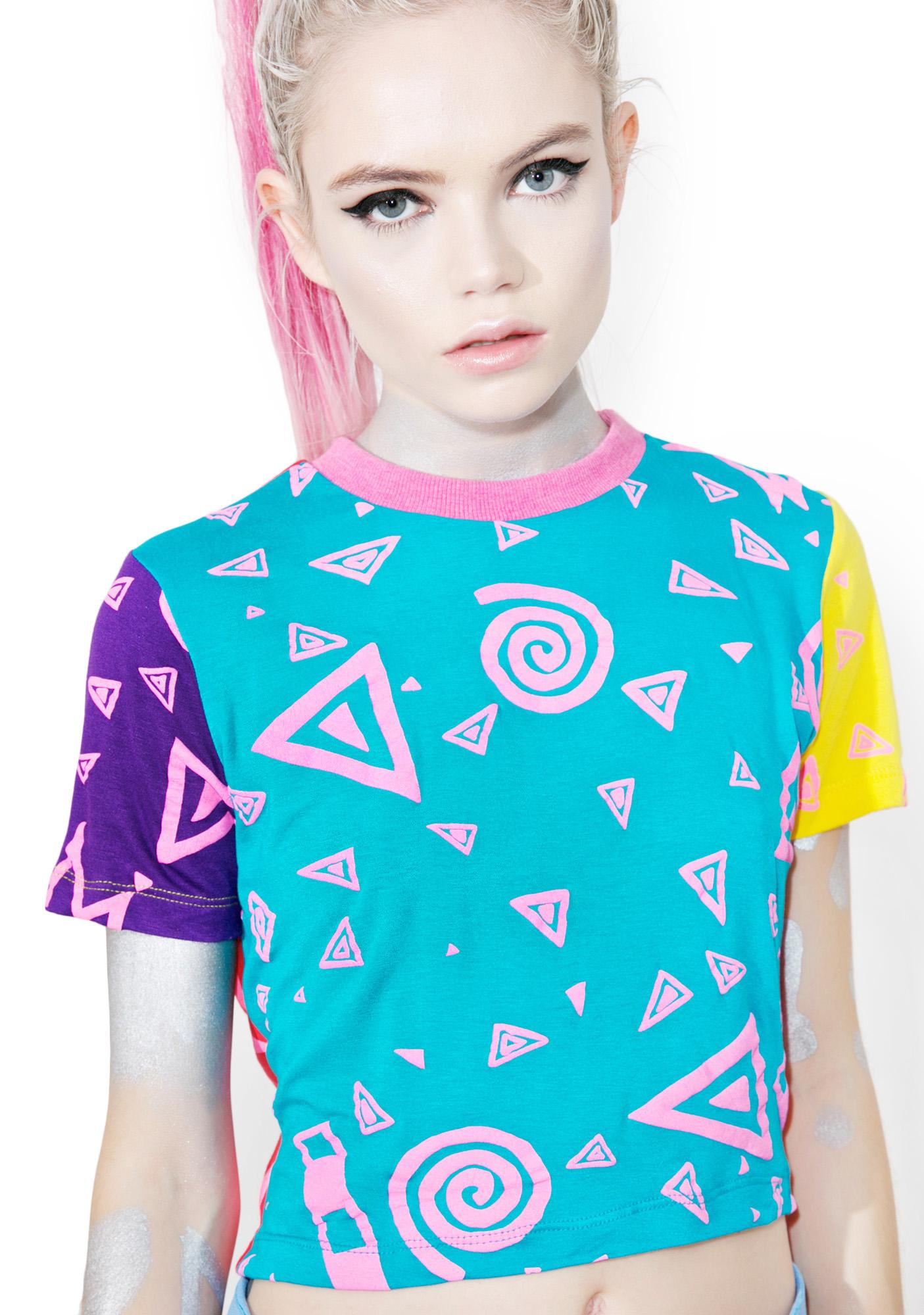 Mamadoux Art School Colorblock Crop Top