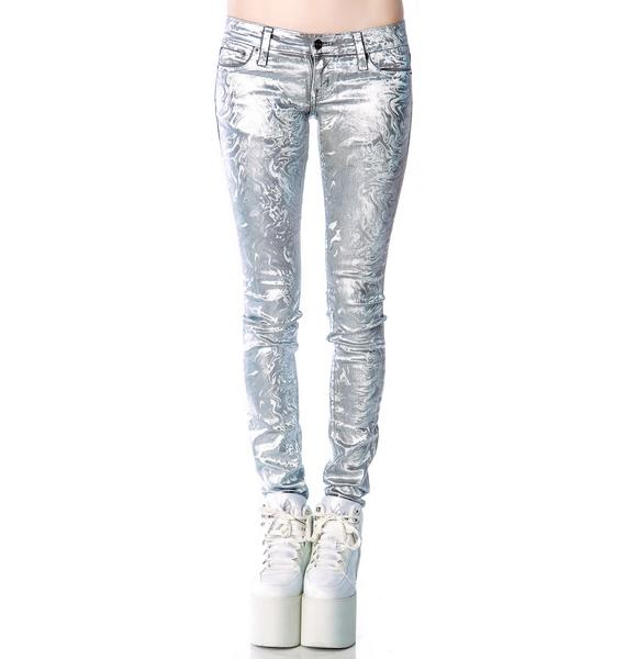 Kill City Melting Holographic Foil Junkie Jeans