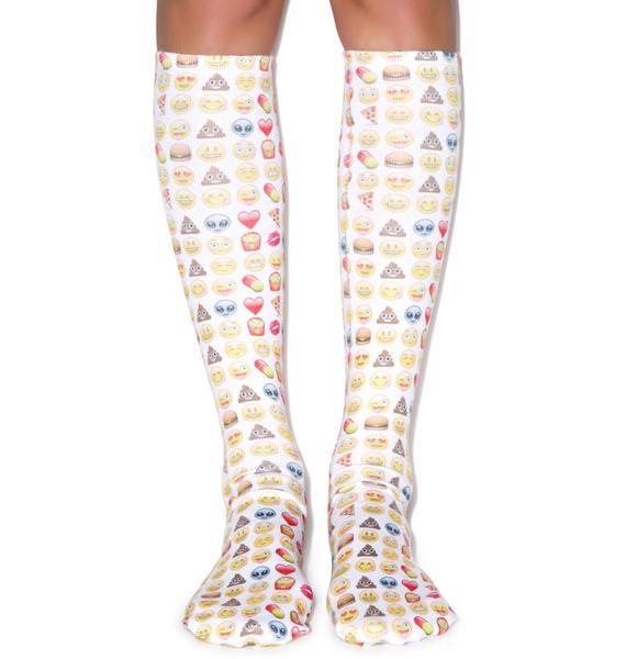 Emoji Knee High Socks