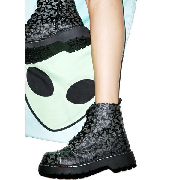 T.U.K. Alien Glow Anarchic 7 Eye Boots