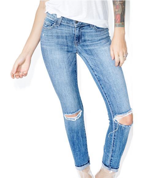 Split Second Distressed Jeans