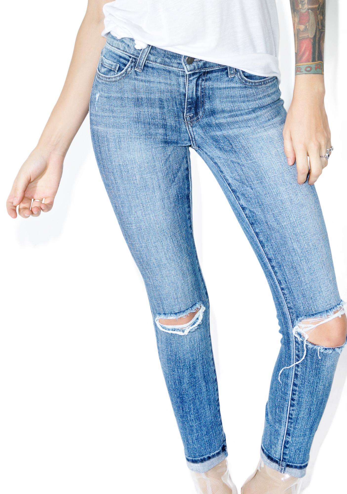 Split Second Distressed Jeans