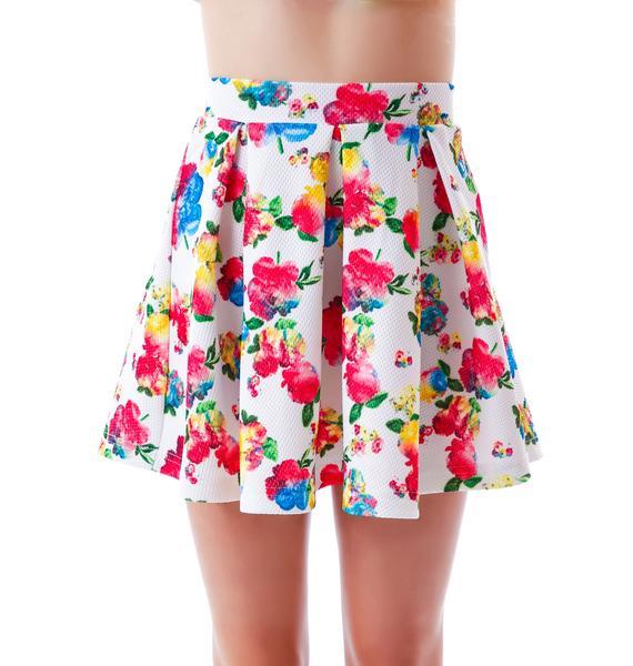 Floral Wonder Waffle Skater Skirt