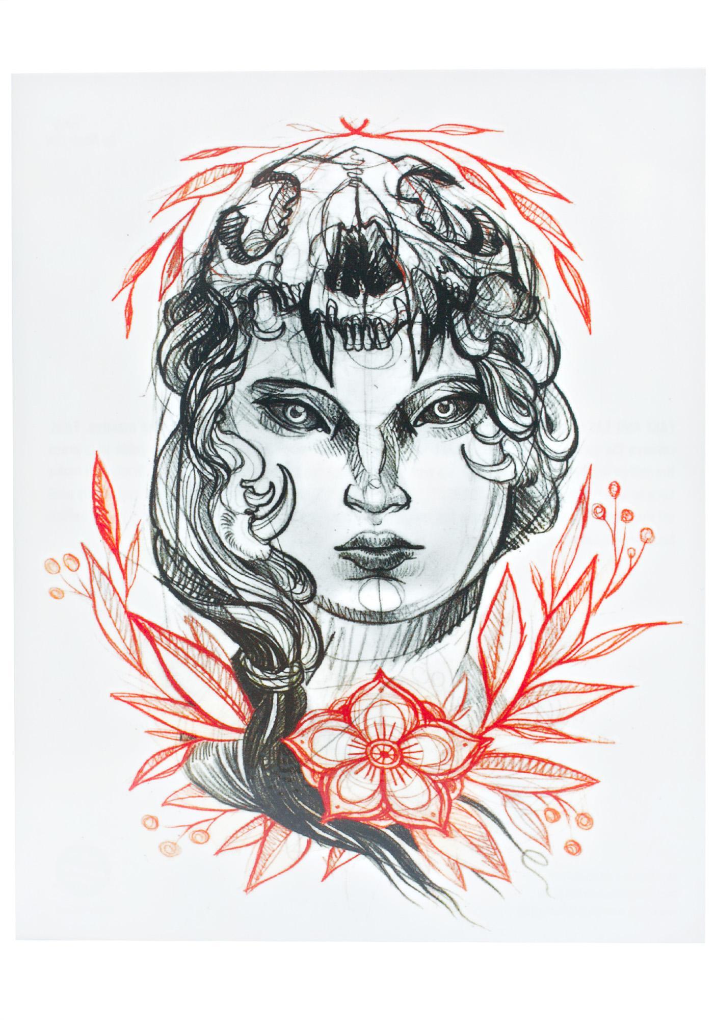 Lady Temporary Tattoo