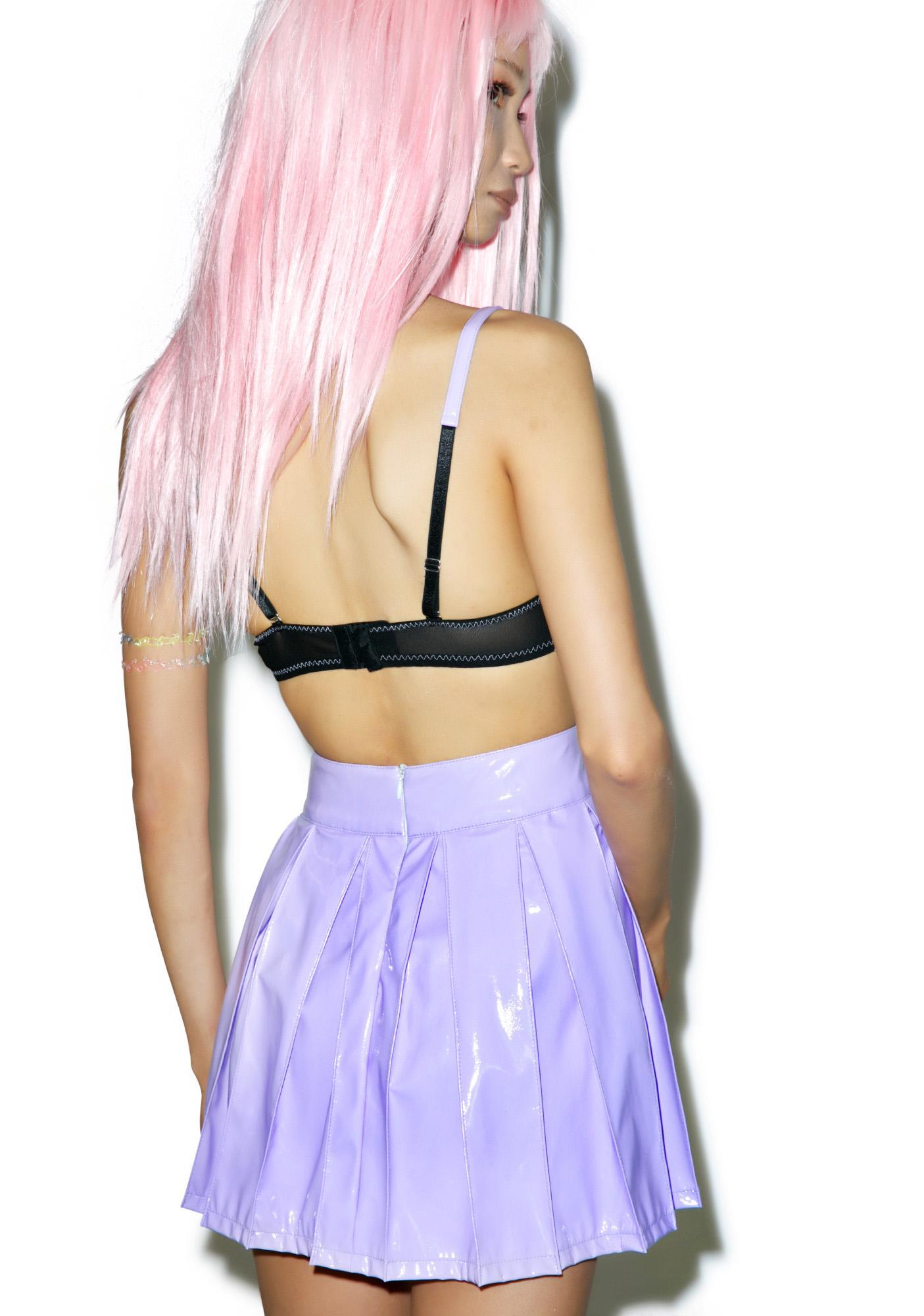 24HRS X Dolls Kill Princess Pastel Vinyl Skirt