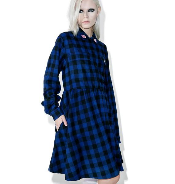 Lazy Oaf Mistakes Flannel Dress