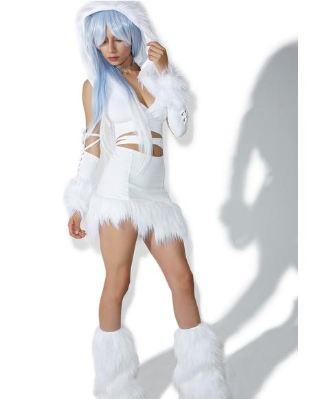 X Dolls Kill Ice Queen Skirt Set