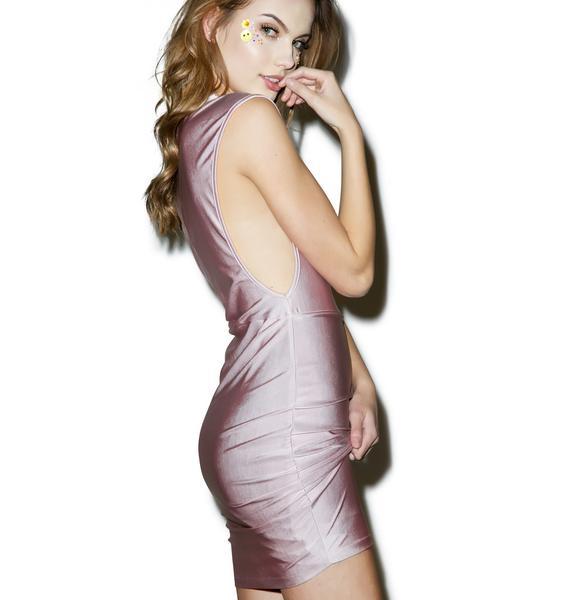 More Rose Metallic Dress