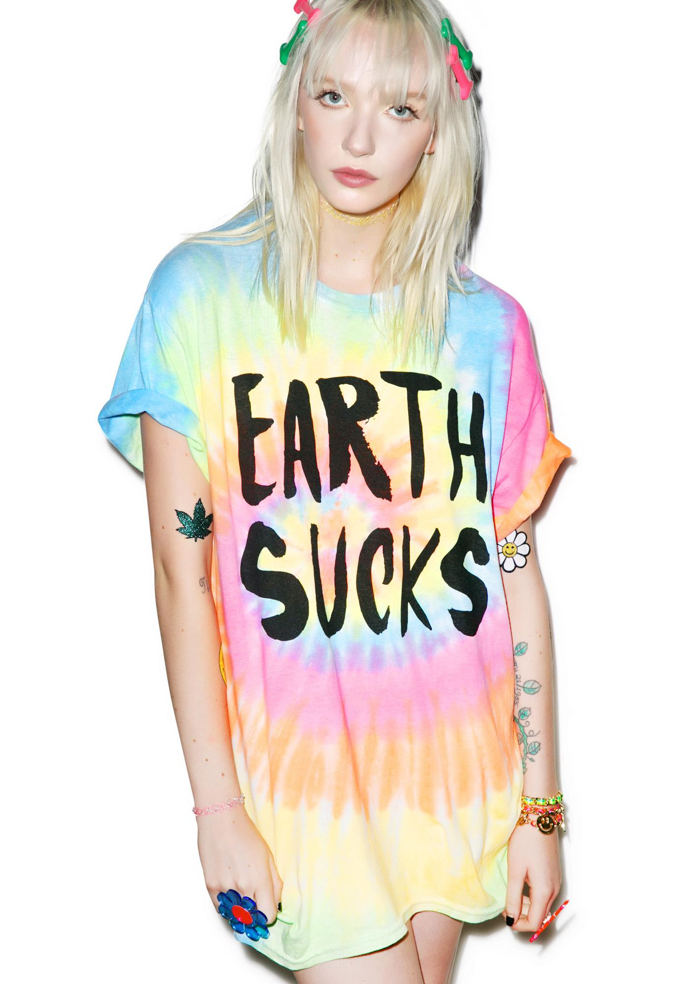 Burger And Friends Earth Sucks Tee