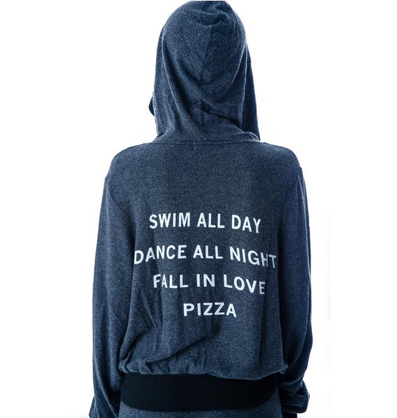 Wildfox Couture Pizza Party Malibu Zip Up