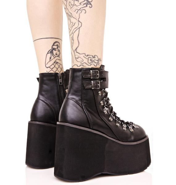Demonia Kera Lace-Up Platform Boots