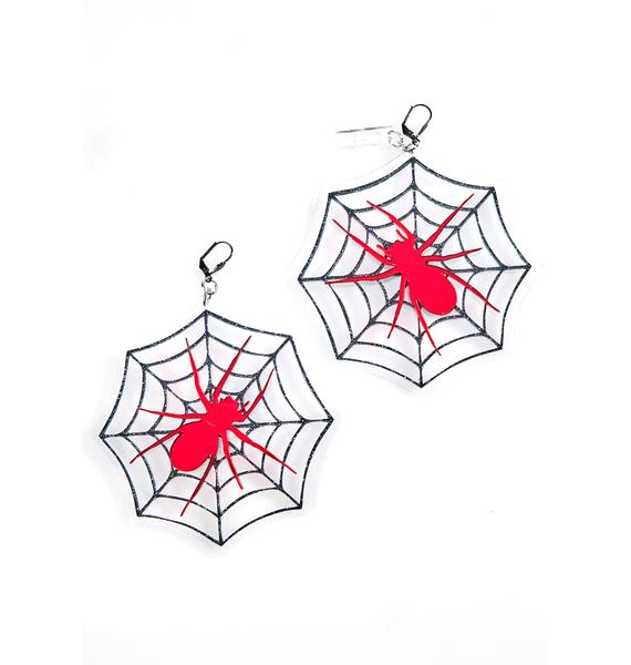 Marina Fini Cobweb Earrings