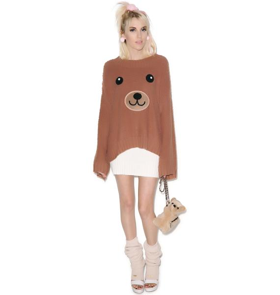 Wildfox Couture Teddy Girl Chunky Oversized Sweater