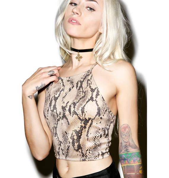 Venom Lace Up Crop Cami