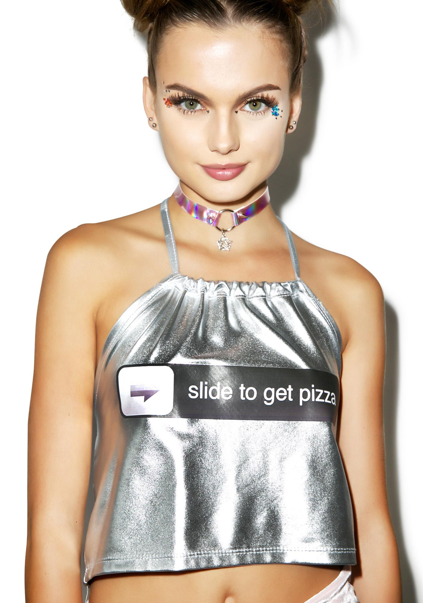 Slide For Pizza Halter Top