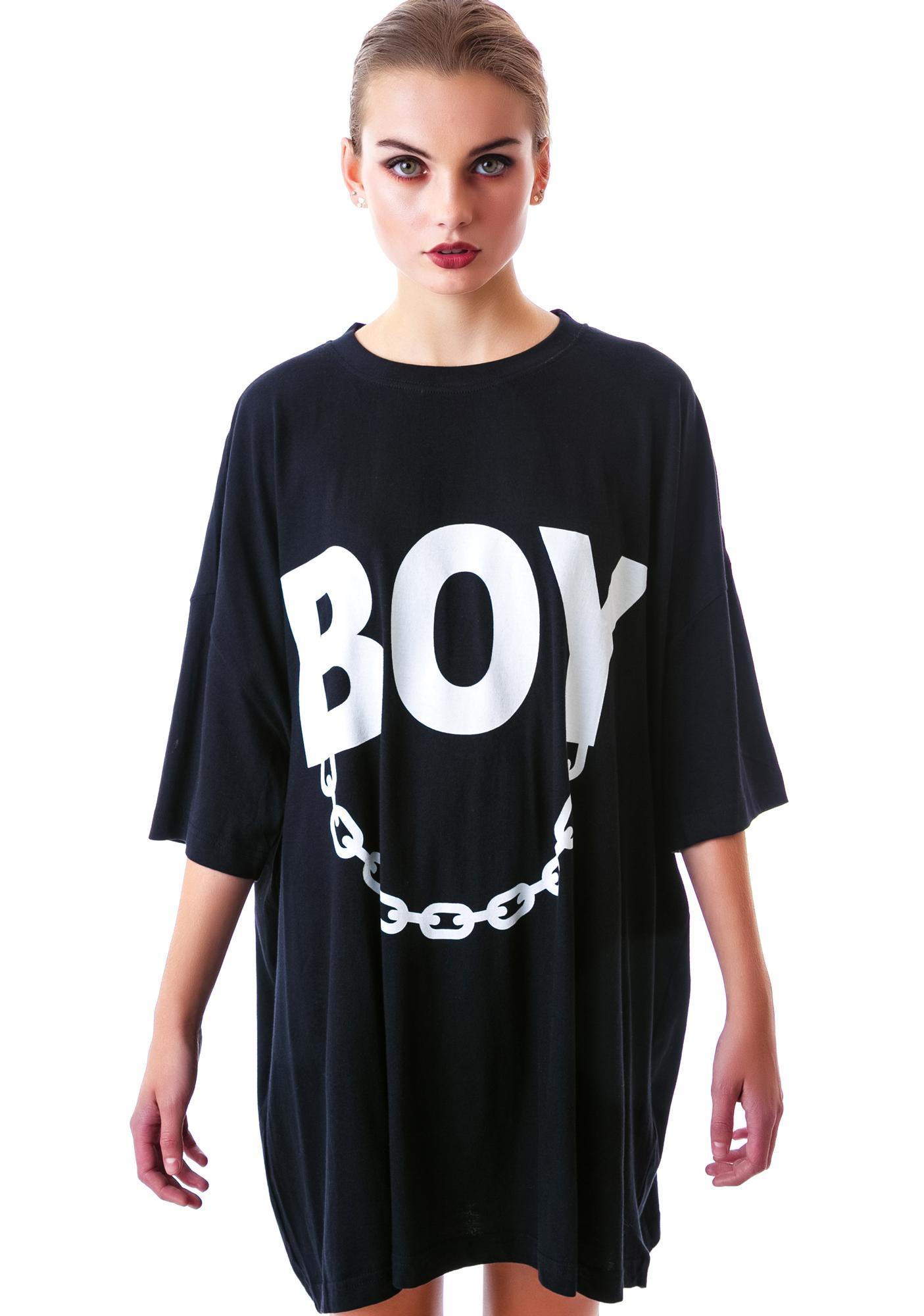 Long Clothing x BOY London Boy Chain Oversized Tee