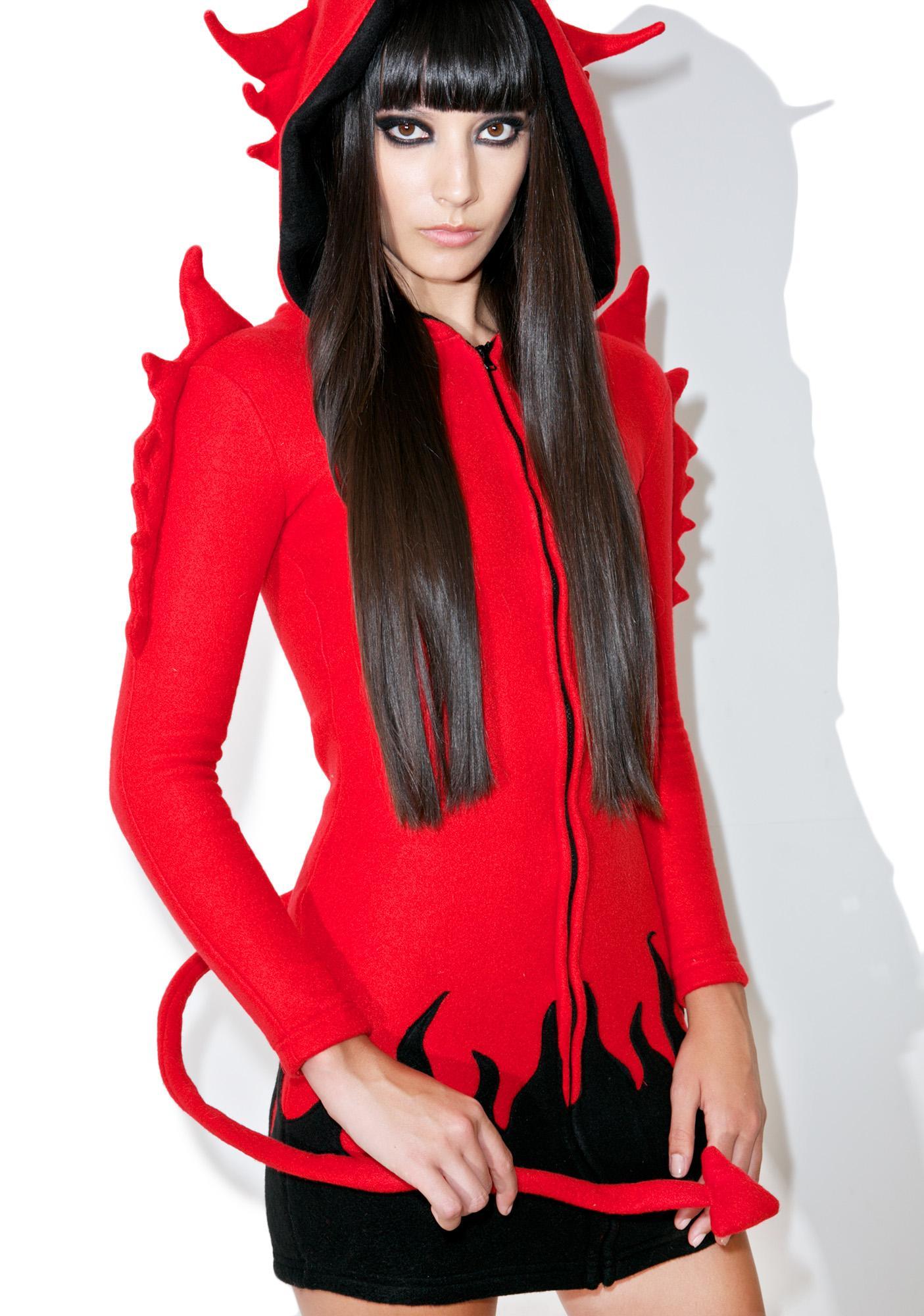 She Devil Horny Hood Costume