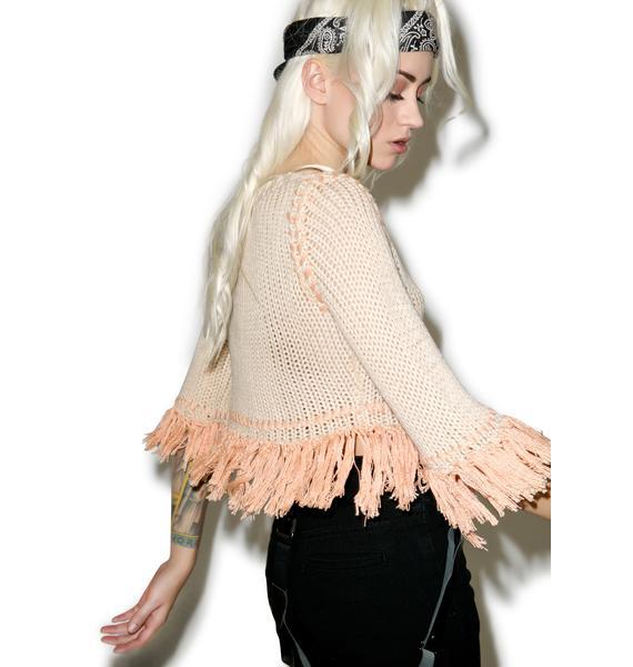 For Love & Lemons Denver Rust Knit Crop Top