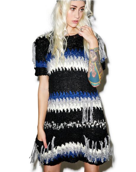 Black 'N Blue Crosby Fringe Dress