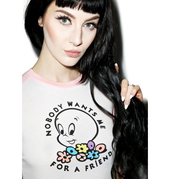 Lazy Oaf X Casper Nobody Wants Me For A Friend Top