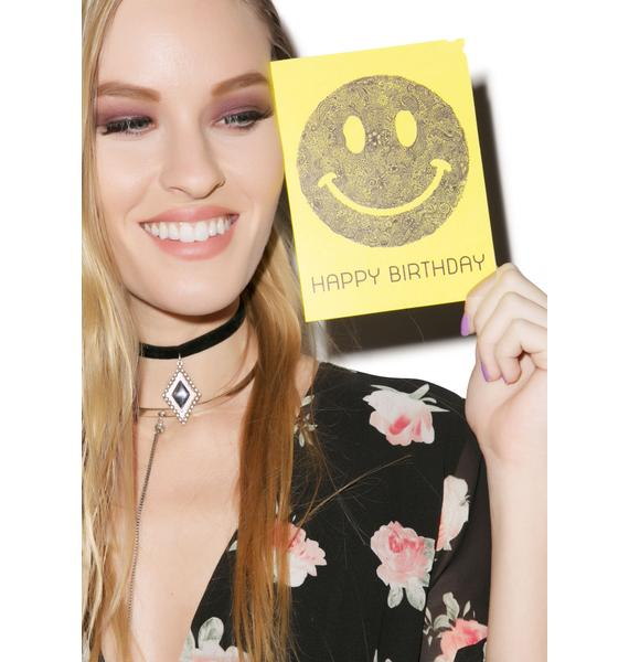 Lauren Moshi Happy Birthday Smiley Face Greeting Card