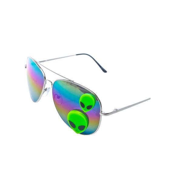 Gasoline Glamour Martian Aviator Sunglasses