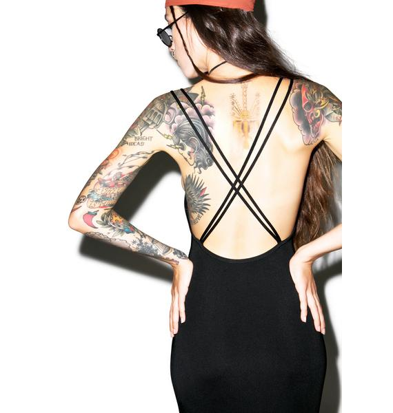 Don't Cross Me Bitch Bodycon Dress