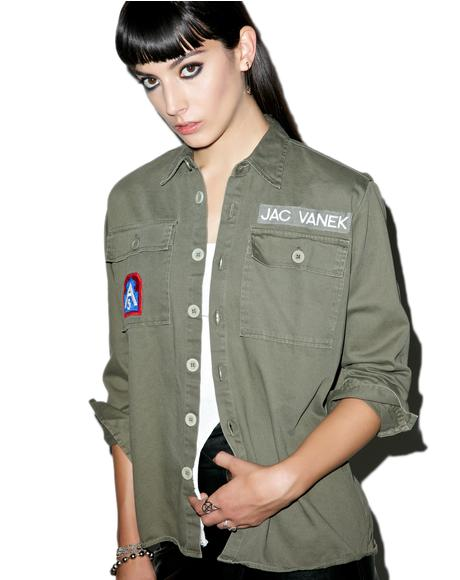 Bad Choices Vintage Army Jacket