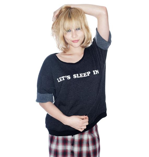 Wildfox Couture Let's Sleep In Oversized Sweater