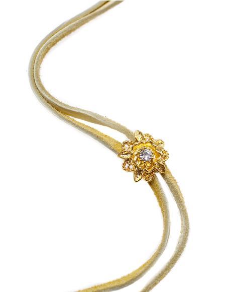 Rosebud Bolo Wrap Necklace