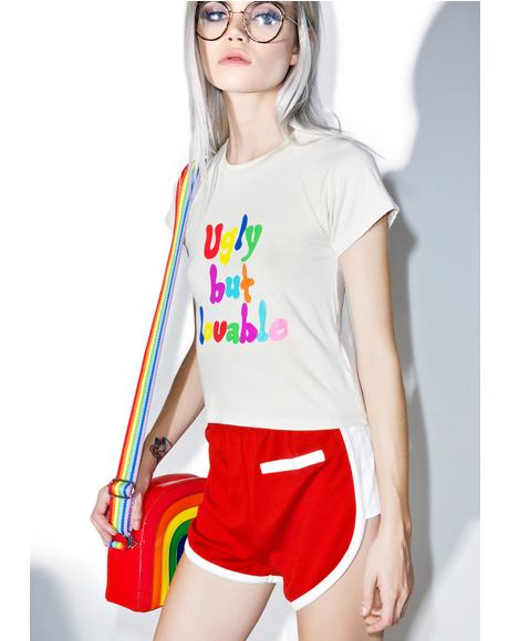 Ugly But Loveable Crop Tee