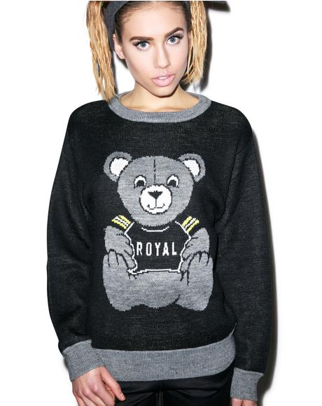 Royal Bear Knit Sweater