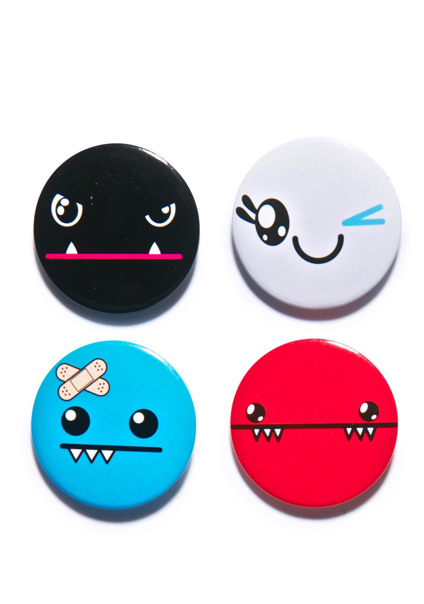 Iron Fist Ozzie Face Button Set