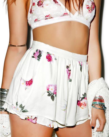 Pink Petals Shorts