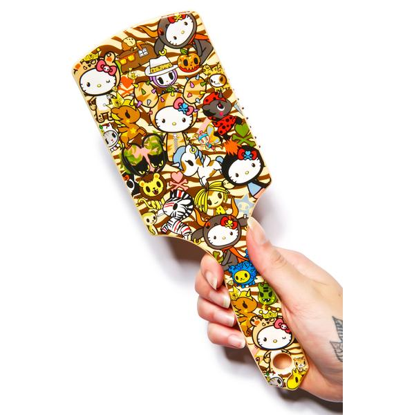Sanrio Tokidoki X Hello Kitty Summer Safari Hair Brush