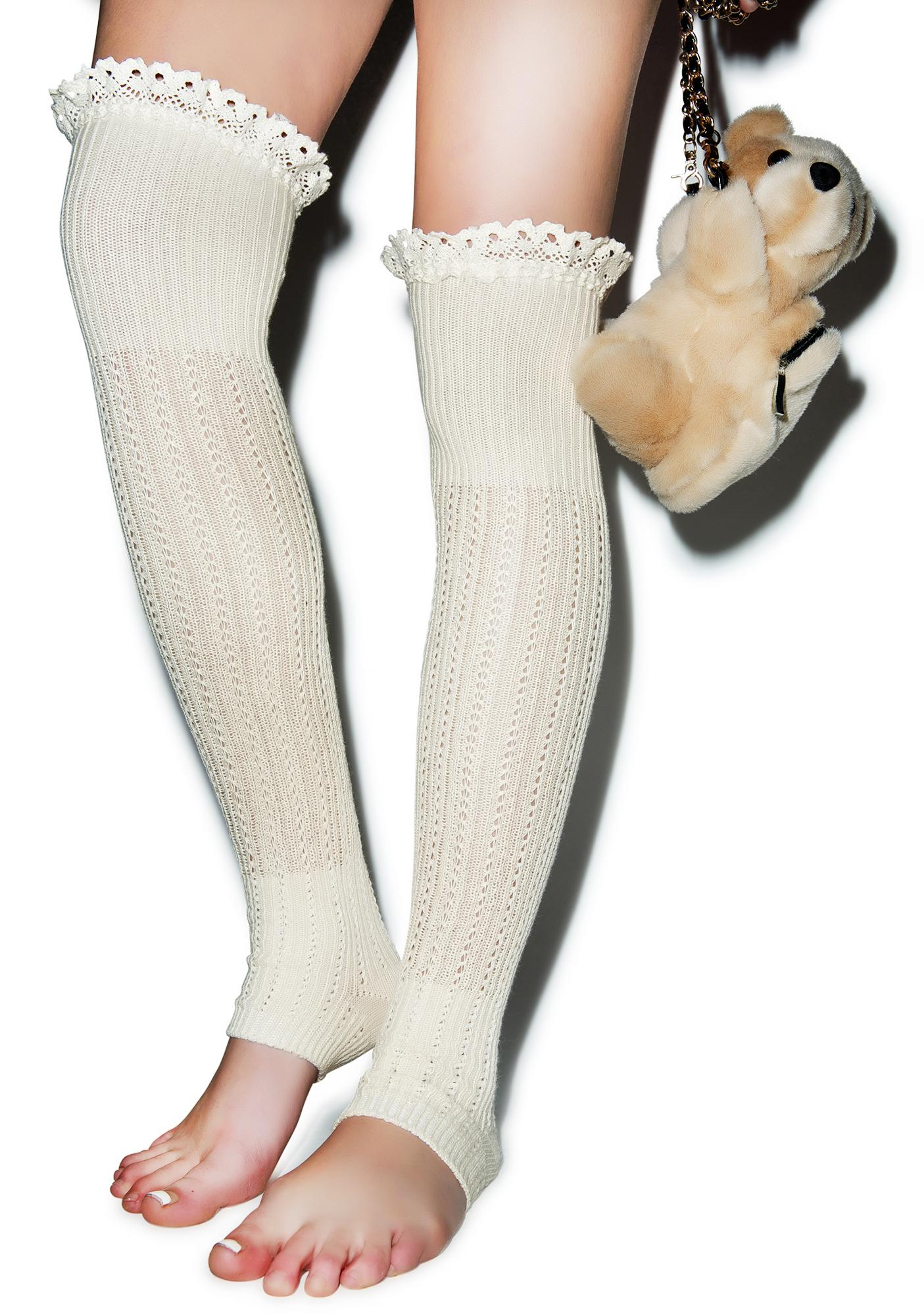 Lace For Days Legwarmers
