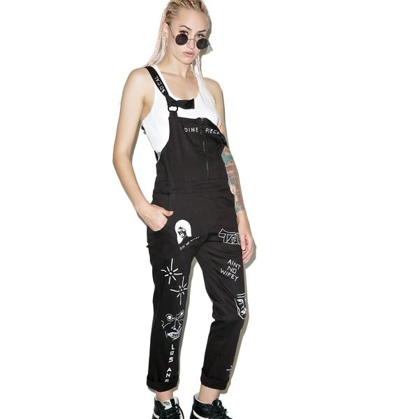 Dimepiece So Cal So Cool Overalls