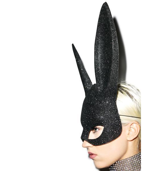 Glitter Gettin' Busy Bunny Mask