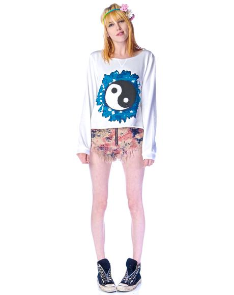 Yin Yang Sweater Top