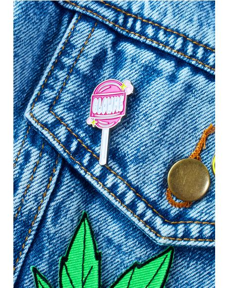 Blow Me Lollipop Pin