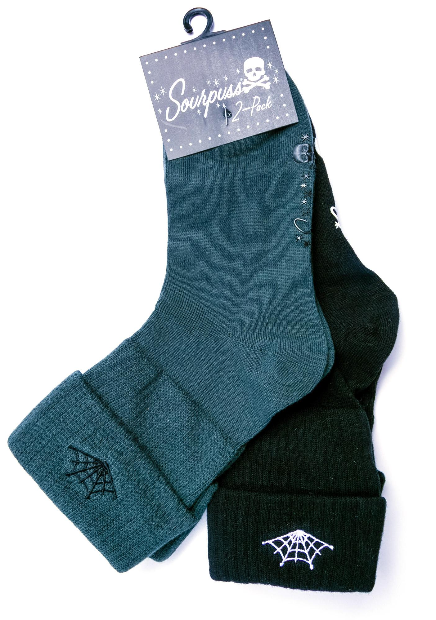 Sourpuss Clothing Web Socks Set
