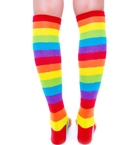 Rainbow Fae Knee High Socks