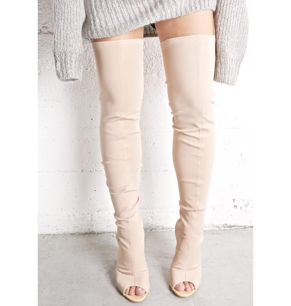 Legend Cut-Out Thigh-High Boots
