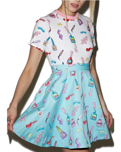 Nail Art Circle Skirt