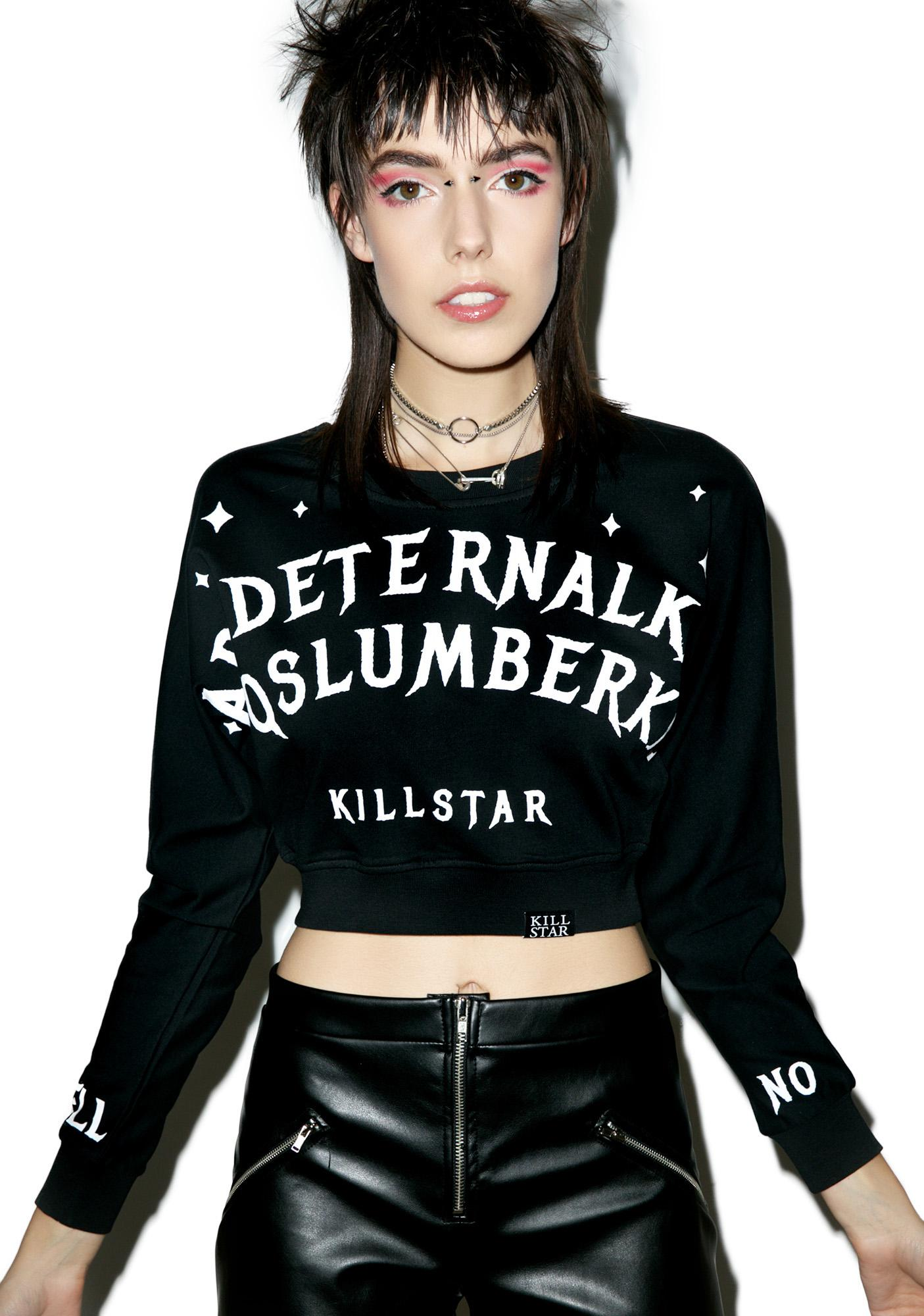 Killstar Slumber Crop Sweatshirt