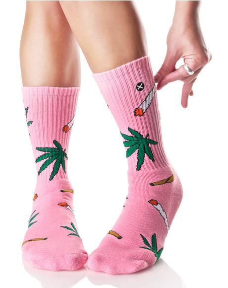 Pink Weedies Socks