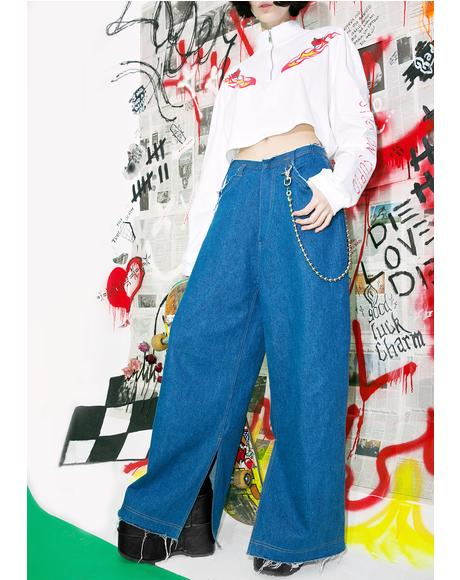 Oversize Denim Pants