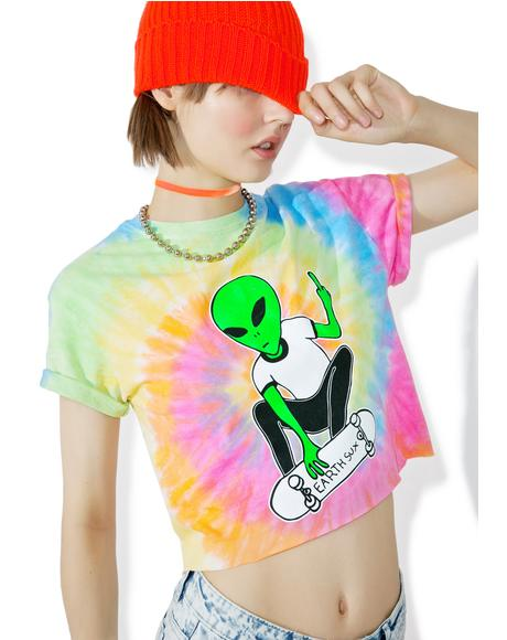 Earth Sux Cropped Tee