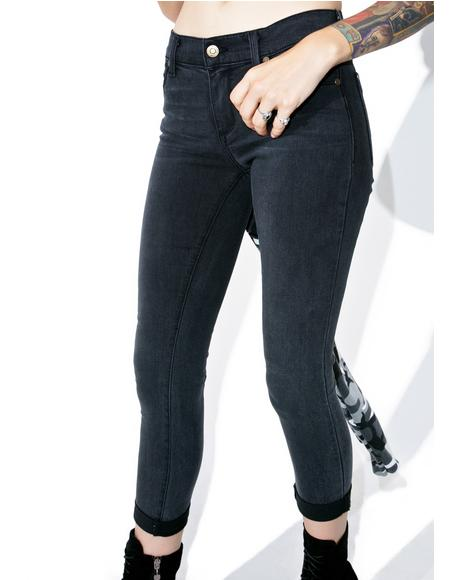 Eight Ball Cuff Jeans