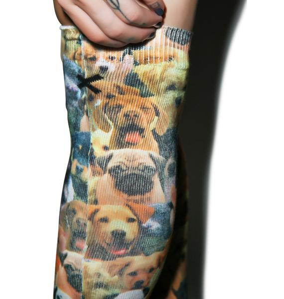 Odd Sox Puppies Knee High Socks